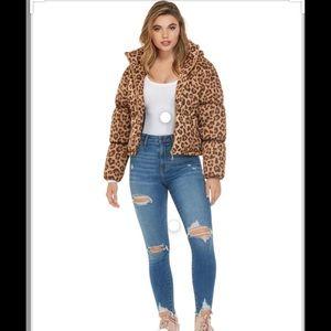 Guess Womens Koll Cropped Hooded Puffer Jacket